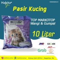 Pasir Kucing - Top Markotop Wangi Gumpal 10 Liter (Best Seller)