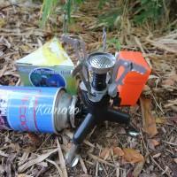 paket kompor lipat ultralight SL0102 plus adaptor kaki 3