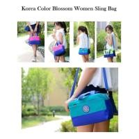 Ts70 Korea Color Blossom Women Sling Bag/ Tas Wanita Selempang Kode
