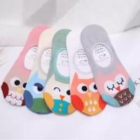 Kk021 Kaos Kaki Pendek Beauty Owl Wanita Low Socks Kode 647