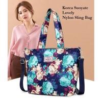 Ts76 Korea Suoyate Lovely Nylon Shoulder Bag/ Tas Selempang Wanita /