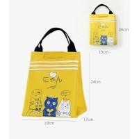 Lb06 Beauty Japanese Cat Lunch Box / Cooler Bag / Tas Bekal Kode 154