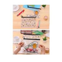 Pf11 Korea Egg Cartoon A5 Stationery Pencil Case / Tempat Pensil Kode