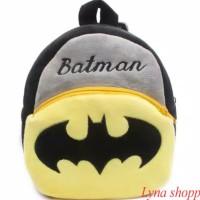 Tas Ransel Anak Anak Karakter / Tas Anak Kecil / Tas Import (BATMAN)