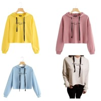BlessCollection. SALE Grosir/Eceran Sweater Wanita Crop Hoodie Cest La