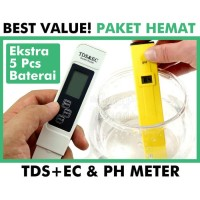 PH + High Class TDS EC Meter ( Paket Hemat )
