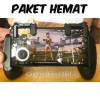Paket Hemat Bundling 5in1 game pad gamepad pubg r1 l1 sharpshooter