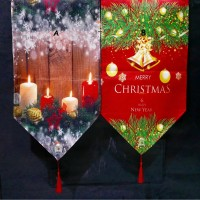 Table Runner Printed Christmas / Taplak Meja Natal