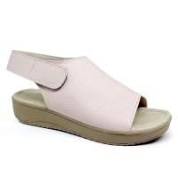 Sandal / Sepatu Wanita Wedges Heels 3 cm Baby Pink Asli Kulit Sapi