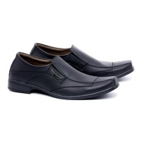 sepatu formal pria semi kulit hitam sepatu fantofel laki laki G4C awet