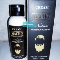 Cream Macho Obat Penyubur Dan Penumbuh Rambut Jenggot Kumis