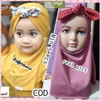 jilbab anak model pita polka/Khimar murah/hijab murah/kerudung murah