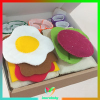 Mainan food flanel - breakfast theme 2