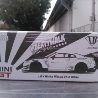MINI GT NO 68 LB WORKS NISSAN GT R35 WHITE RHD STIR KANAN