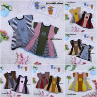 Dress Clara 1-3 Tahun / Baju Anak Perempuan Pesta Batik Gaun Anak Atas