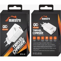 Adaptor Charger Maestro MTC1-01 QC 3.0 Travel Charger Fast Charging