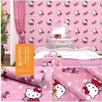 Hello kitty 45cm x 10mtr ~ Wallpaper sticker dinding
