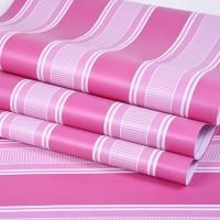 Stripe Pink 45cm x 10mtr ~Wallpaper sticker dinding