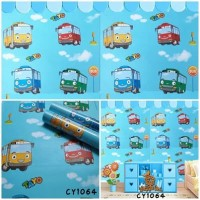 Wallpaper Sticker Dinding Karakter Bus Tayo Ukuran 45CM x 10 M