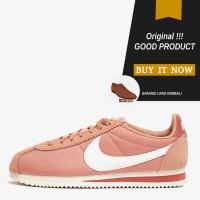 Sepatu Sneakers Wanita Original Nike Classic Cortez Nylon - Rose Gold