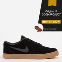 Sepatu Sneakers Original Sepatu Nike SB Check Solarsoft - Black/Gum
