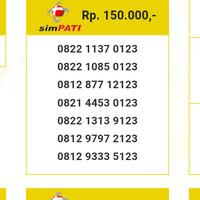 Nomor Cantik Simpati 11 digit abab 6060 Urut 123 0822 6068 9 123 BS12
