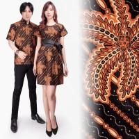 Couple Dress Clumci Short Dress Batik Wanita Dan Kemeja Batik Pria