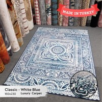 Turki Karpet Import Asli Elegant Cantik Uk 160x230 Batik Blue