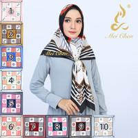 Mei Chen Motif Segi Empat Abstrak Hijab Jilbab Kerudung Square