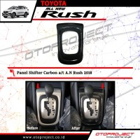 Cover Panel shifter Perseneling Manual Carbon All New Rush / Terios