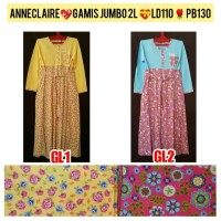 Gamis Jumbo 2L Baju Muslim Anneclaire