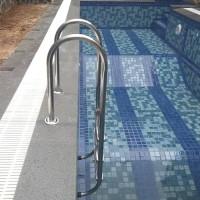 Tangga kolam renang model U 3 steps 2 inch 4 Dynabolt