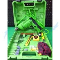 RYU Mesin Bor Tas Set Drill 10mm Variable Set 22 Pcs RDR 10-3 REB