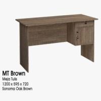 meja kerja / Kantor / belajar / kasir 1/2 biro GSTAR 60 X 120 cm