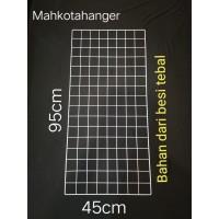 Jaring Ram Besi Dinding Ukuran 45cmx95cm Gantungan hook ram display
