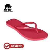 Fipper Glitter / Sandal Jepit Wanita / Red Ruby White