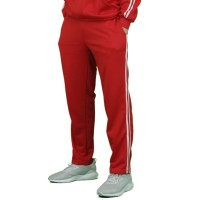 Trackpants Celana Panjang Double Side Stripe Unisex Merah Premium