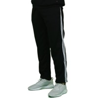 Trackpants Celana Panjang Double Side Stripe Unisex Hitam Premium