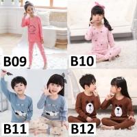 Setelan Baju Kaos dan Celana Panjang Anak Laki-Laki & Perempuan