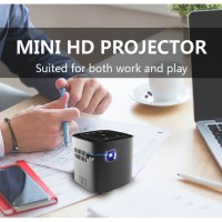 Mini Proyektor/Projector S12 Android Wifi Bluetooth For Full HD 1080P