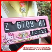 Cover Plat Nomor Motor Hello Kitty - Dudukan Flat Nomer Fiberglass