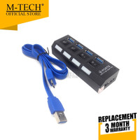 M-Tech Original USB Hub Versi 3.0 4 Port 4 Switch