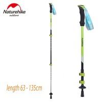 Trekking Pole Naturehke Clip Lock Quick Release Hijau 135cm Max