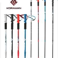 Trekking Pole KORAMAN F&F 3LS Versi 65 - 135 Cm Anti Shock Outdoor