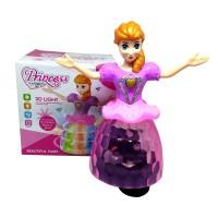 Mainan Anak Boneka Princess Goyang / Muter - Lampu Warna Warni Musik