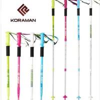 Trekking Pole KORAMAN F&F 3LS Versi 55 - 120 Cm Anti Shock Outdoor
