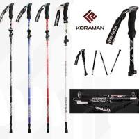 Trekking Pole Lipat Tarik KORAMAN KR-HS1514 Aluminium Allloy 7075
