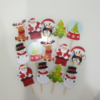 Natal Christmas Cupcake Topper Cake Topper isi 24pc