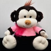 Boneka Monkey / Monyet clothes pink SNI