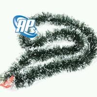 slinger hijau salju / hiasan tinsel pohon natal / dekorasi natal